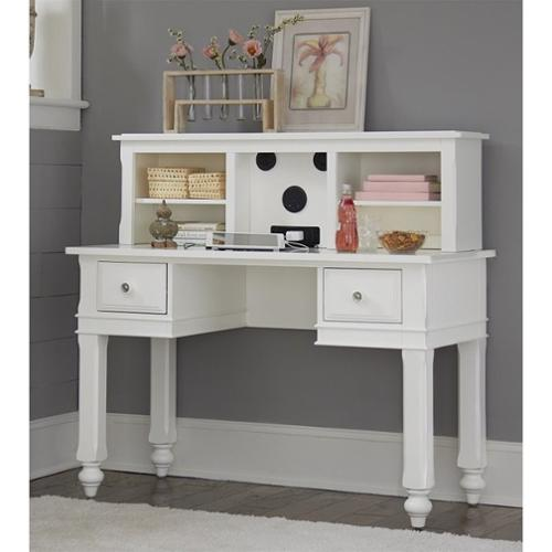 NE Kids Lake House Writing Desk with Hutch and Chair in White
