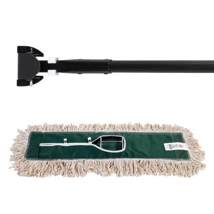 JAN134 Deluxe 36 Inch Pretreated Dust Mop Kit Made In USA CASE OF - Deluxe Dust