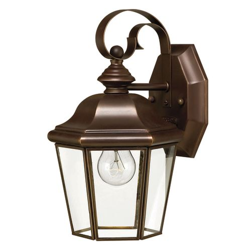 """Hinkley Lighting H2420 10.75"""" Height 1-Light Lantern Outdoor Wall Sconce from the Clifton Park Collection"""