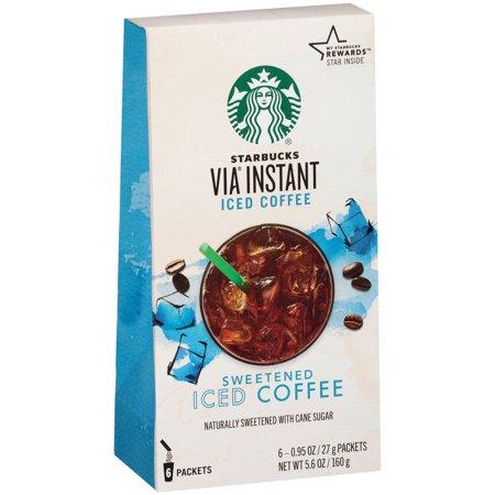Starbucks Via Instant Sweetened Iced Coffee, 0.95 Oz, 6 Ct
