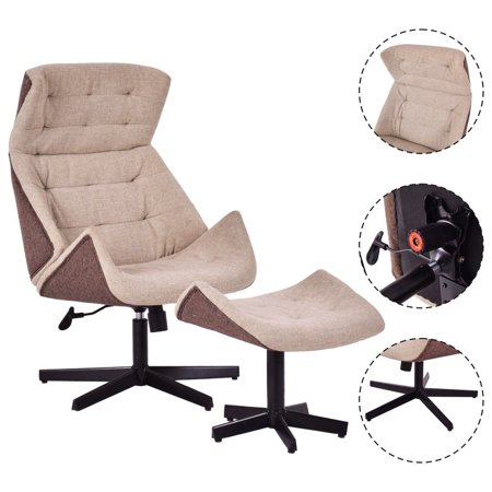 Swivel Leisure Chair (Costway Executive Chair Lounge Leisure Chair Adjustable Height Swivel)