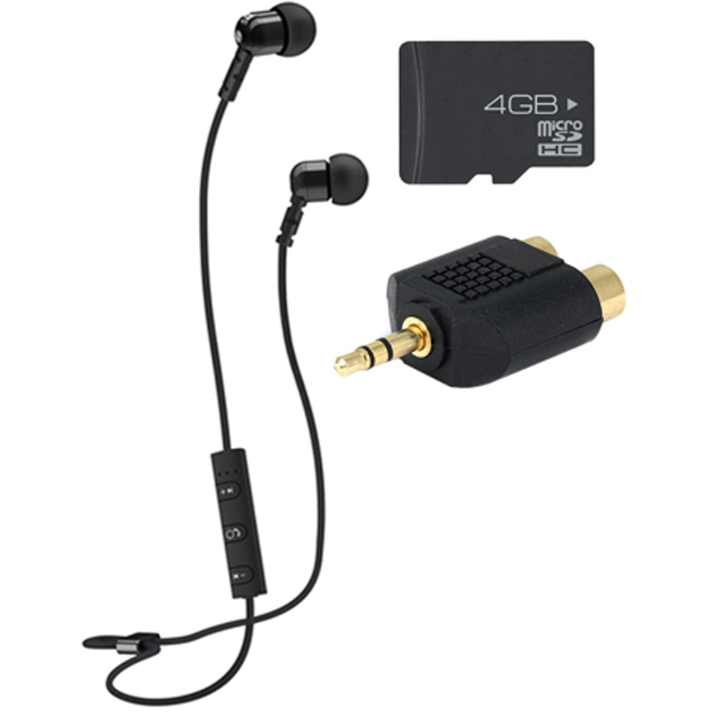 MEElectronics M9B Bluetooth Wireless Noise-Isolating In-Ear Headset & Memory Card Bundle