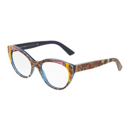 cd95a77745a DOLCE   GABBANA Eyeglasses DG3246 3036 Top Handcart  Blue 53MM - Walmart.com