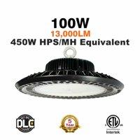 Bobcat LED UFO High Bay Light White 5000K Waterproof Daylight DLC ETL Listed.