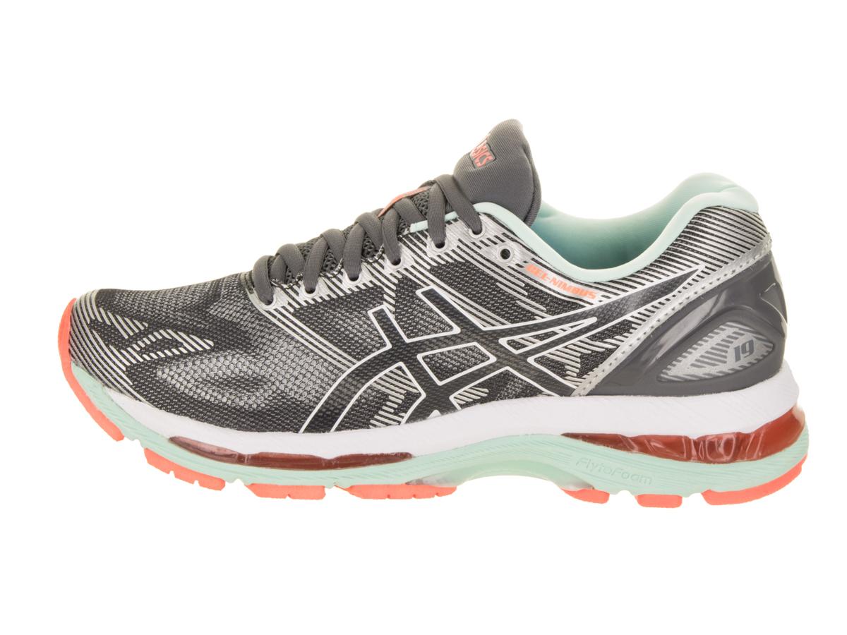 ASICS Women's GEL-Nimbus 19 Running Shoes (Grey, 5.5)