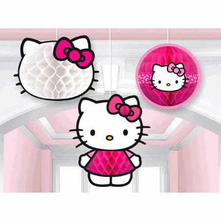 Hello Kitty 'Rainbow' Honeycomb Decorations (3pc)](Hello Kitty Dessert Ideas)