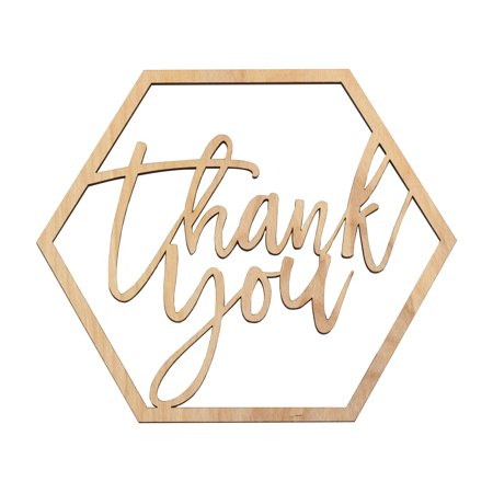 Koyal Wholesale Wood Thank You Sign, Party Banner, Decorations For Wedding Bridal Shower Baby Shower Kids - Thank You Decorations