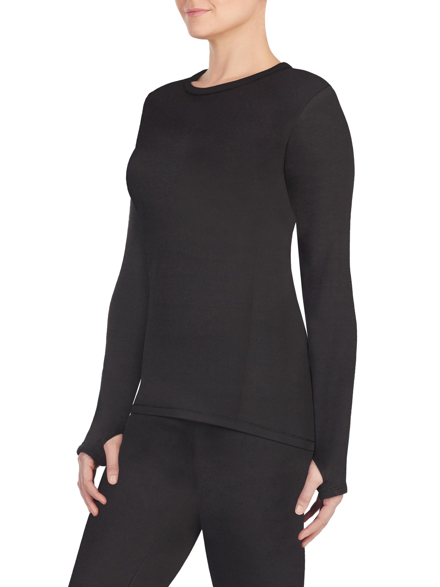 Women's Strech Luxe Velour Warm Underwear Long Sleeve Top