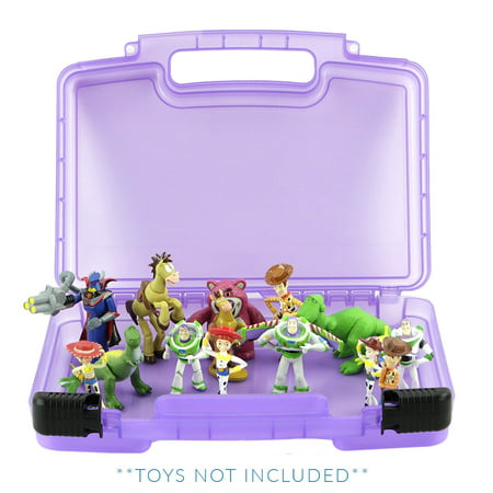 Toy Story Case, Toy Storage Carrying Box. Figures Playset Organizer. Accessories For Kids by LMB (Toy Story Girl Characters)