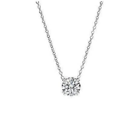 Harry Chad Enterprises 36933 0.5 CT 14K White Gold Ladies Round Diamond Pendant Necklace - image 1 of 1