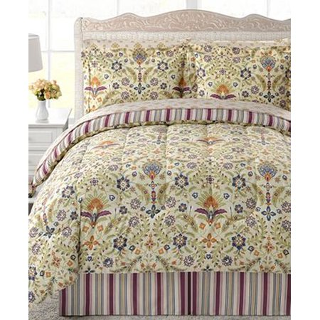 Fairfield Square Full Bed in a Bag Blooming Grove Comforter Set Sheets Sham 8 pc ()