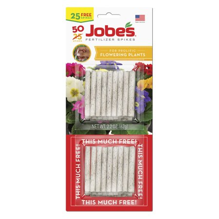 Outdoor Plant Food - Jobes 5201T Flowering Plant Food Spikes 10-10-4, 50-Pack