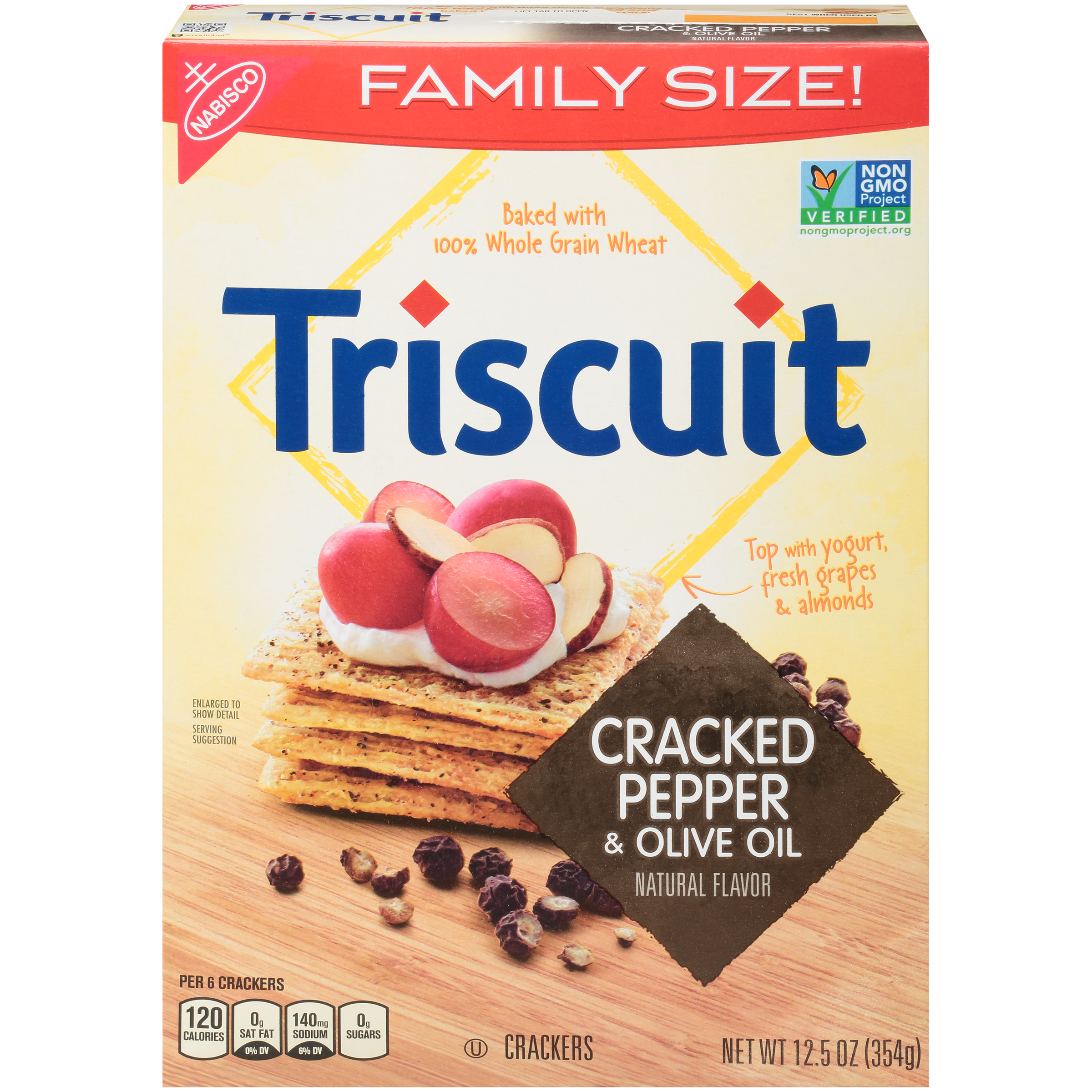 Nabisco Triscuit Cracked Pepper & Olive Oil Crackers, 12.5 Oz.