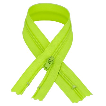YKK #3 Coil Zipper, 7 Inch Length, Party Bright Green 535