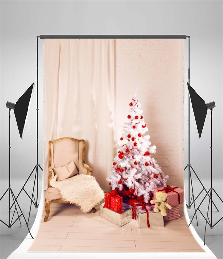 Xddja Polyester Fabric Christmas Backdrop 5x7ft Xmas Tree Decoration Gifts Interior Chair Curtain Brick Wall Floor Photography Background Children Kids Shooting Props Walmart Canada