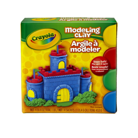 Harden Modeling Clay - Crayola Model Magic Non-Toxic Modeling Clay Set, 025 Lb, Assorted Color, Set Of 4