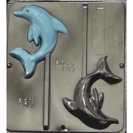 3409 Dolphin Lollipop Chocolate Candy Mold