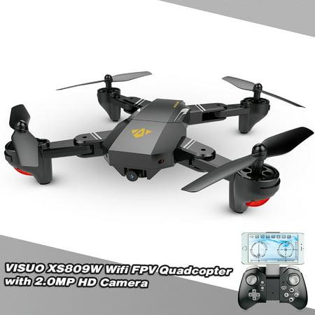 VISUO XS809HW Wifi FPV 2.0MP 720P 120° FOV Wide Angle HD Camera Foldable 2.4G Selfie Drone Height Hold RC Quadcopter G-Sensor RTF