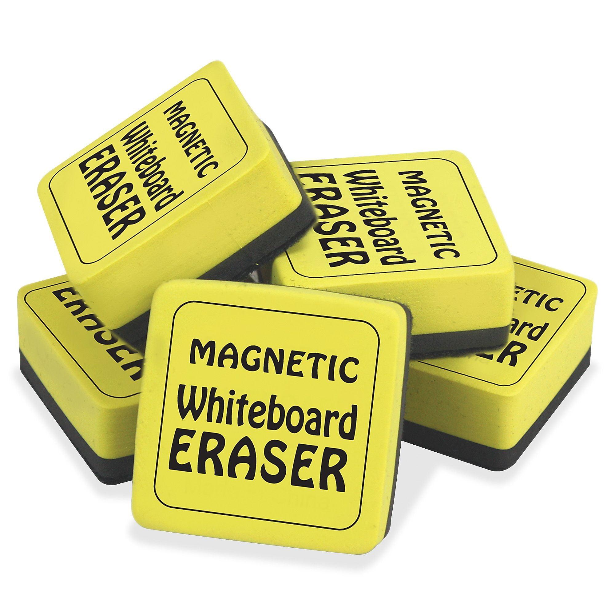 School Smart Mini Magnetic Dry Erase Board Erasers 2 X 2 12 Count Walmart Com Walmart Com
