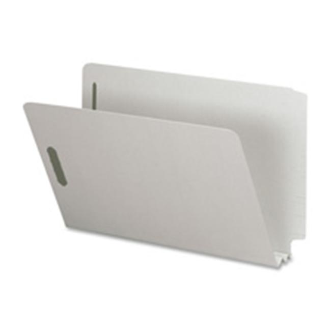 Nature Saver NATSP17266 End Tab Pressboard Fastener Folder- 2inch Exp- Legal- Gray