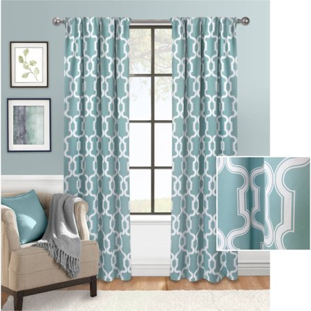 Mainstays Bold Lattice Room Darkening Curtain Walmart Com