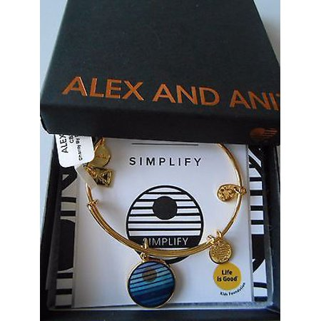 Alex And Ani Womens Charity By Design Simplify Bangle Gold Tone One Size