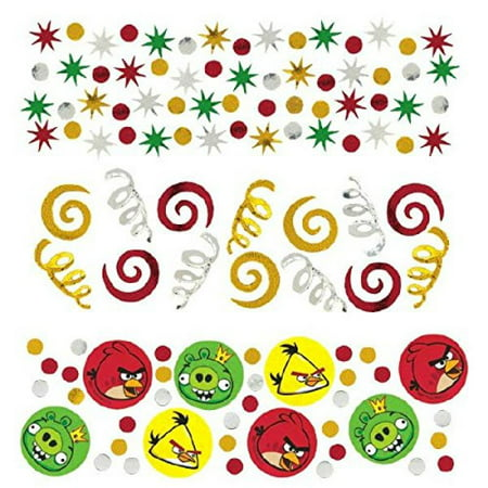 Amscan Fun-Filled Angry Birds Birthday Party Confetti Decoration (Pack of 1), Multicolor, 1.2 - Angry Birds Party Ideas