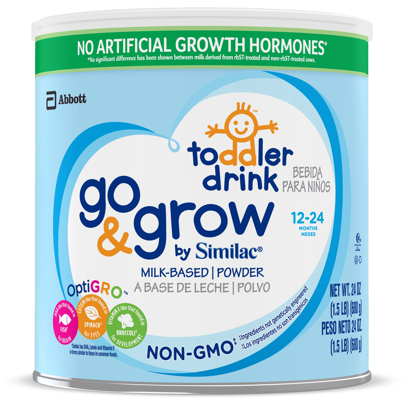 Similac Go & Grow NON-GMO Toddler Drink, Powder, 1.5 lb (Pack of 4)