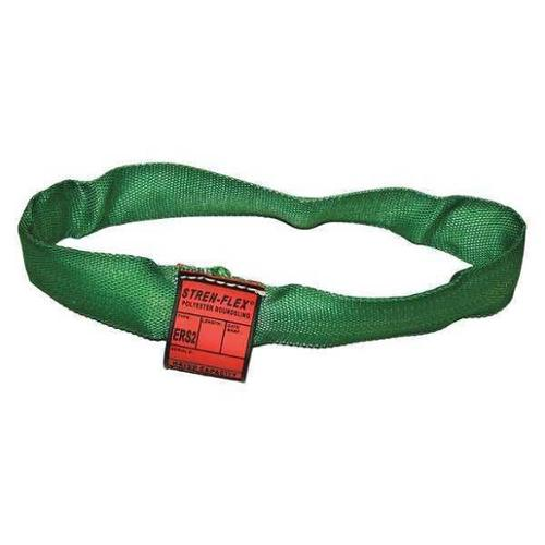 STREN-FLEX STRERSG2-03 Round Sling,Endless,Green,3 ft. L G2364875
