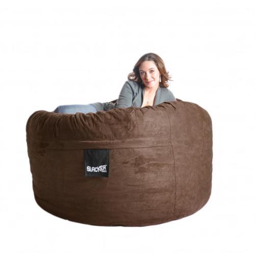 Slacker Sack 5-foot Microfiber and Memory Foam Bean Bag 5' Earth Brown
