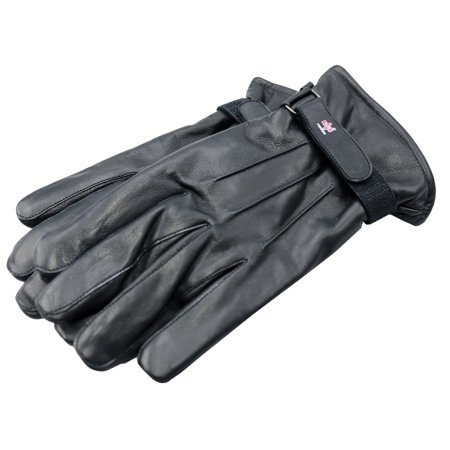 Perrini Black Genuine Cowhide Leather Winter Gloves Size Xl