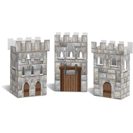New Medieval Stone Castle Party Favor Boxes