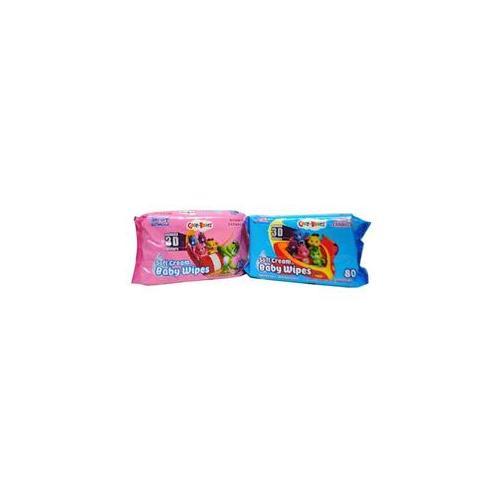 Care Bears Soft Cream Baby Wipes Vitamin Enhanced Case Pack 24