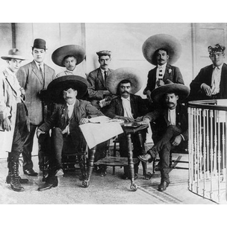 - Emiliano Zapata and Staff Mexican Revolution 1912 Poster Print by McMahan Photo Archive (10 x 8)