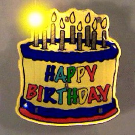 Birthday Cake Flashing Body Light Lapel Pins