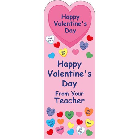 Creative Shapes Valentine Teacher Bookmark