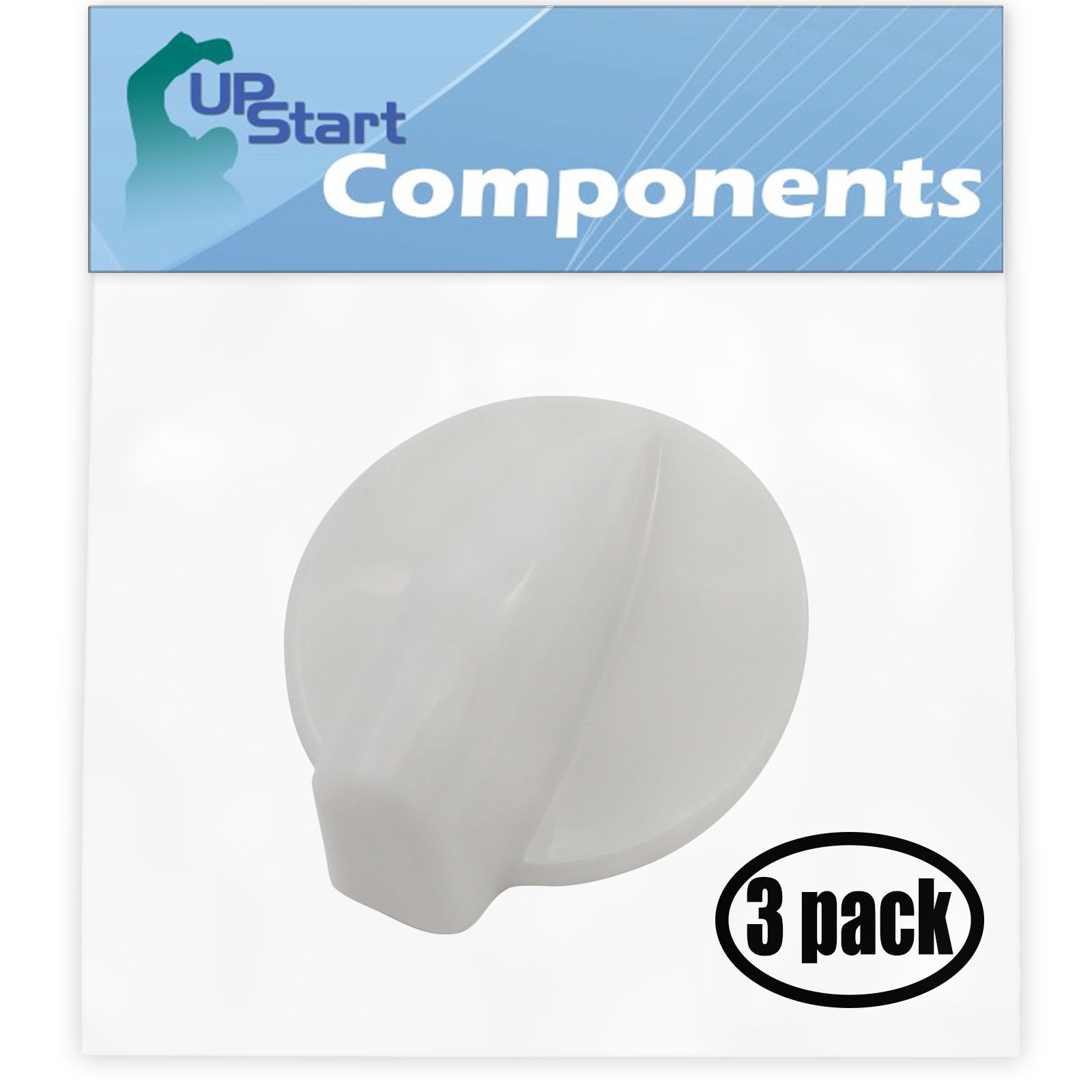3 Pack Replacement Dryer Timer Knob WP8181922 for Whirlpool GHW9100LQ2 Residential Washer - image 4 de 4