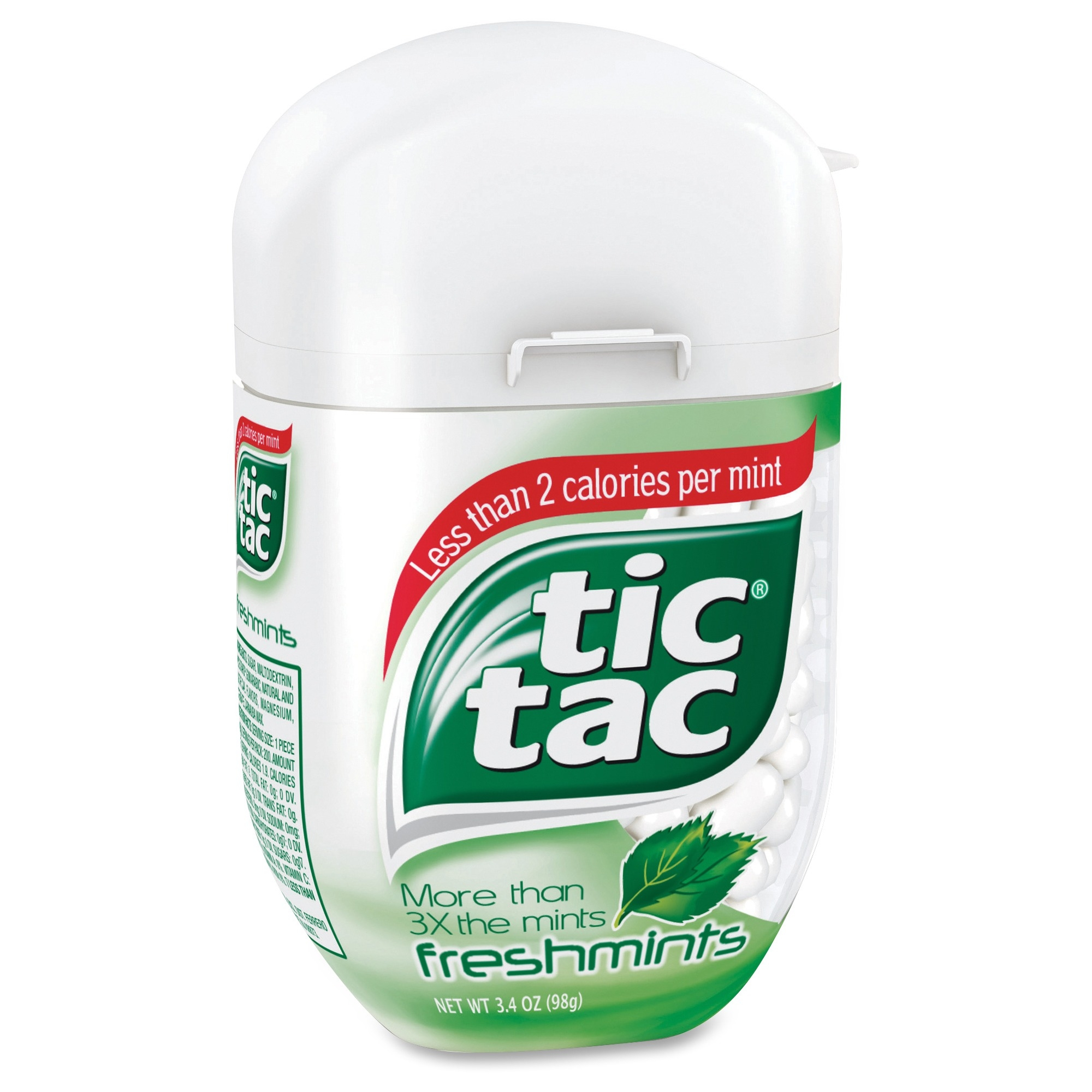 Tic Tac Breath Mints - Freshmint - Resealable Container - 3.40 Oz - 4 / Pack (sn00631)