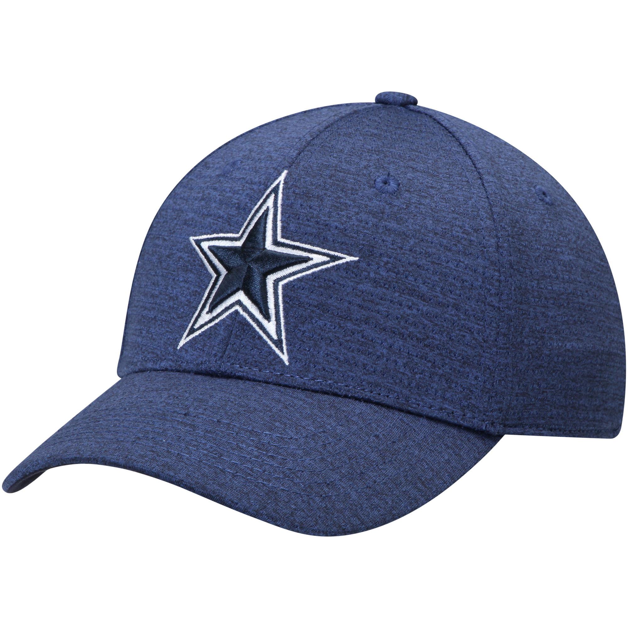 Men's Heathered Navy Dallas Cowboys Woodley Flex Hat