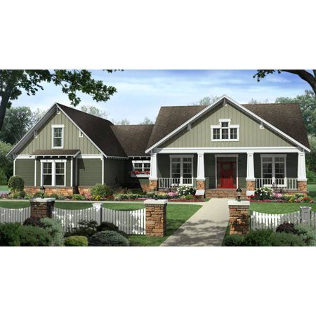 Thehousedesigners 8688 Country House Plan With Slab Foundation  5 Printed Sets