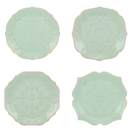Lenox French Perle Ice Blue Assorted Plates - Set of