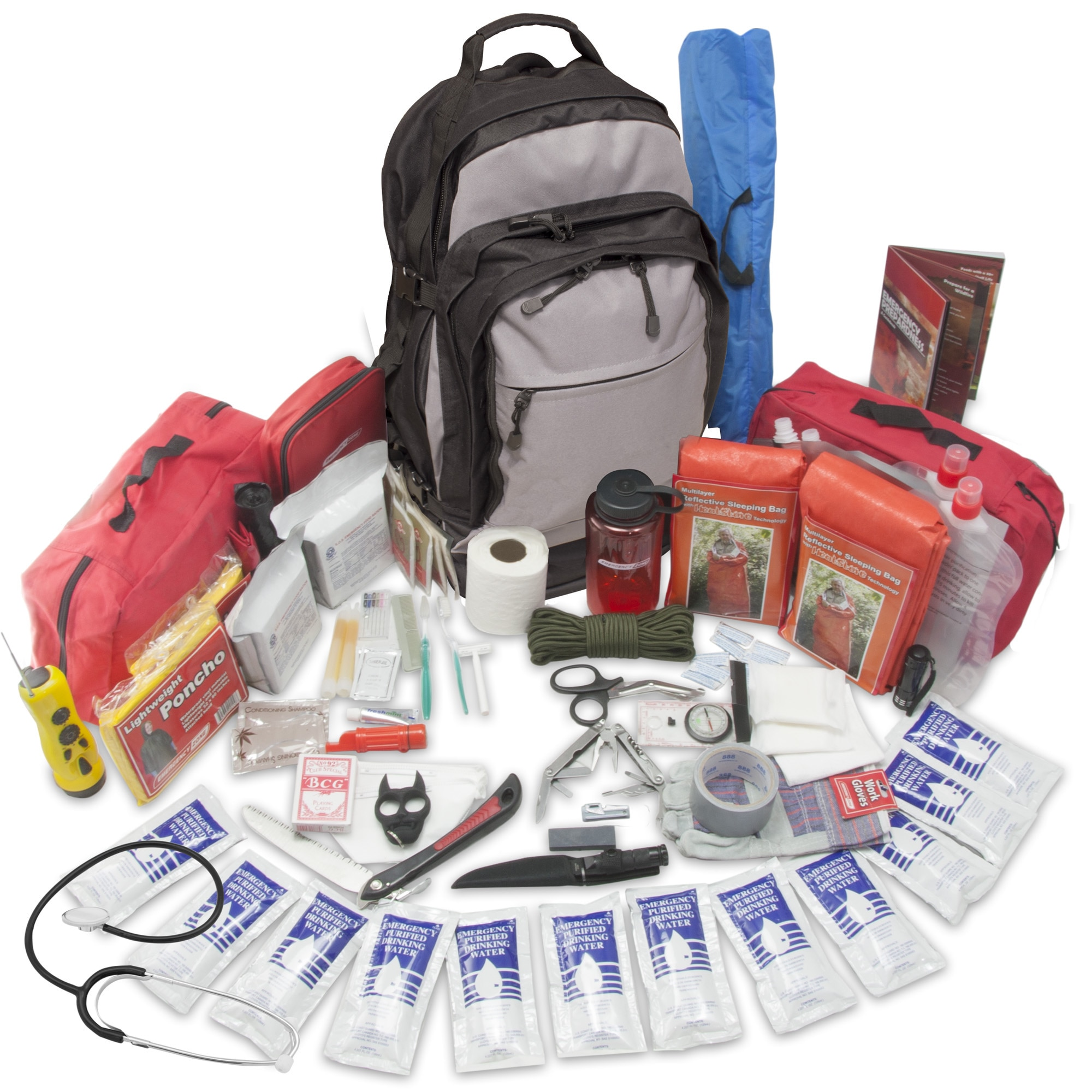 Emergency Zone Stealth Tactical Bug Out Bag- 2  Person 72 Hour Kit