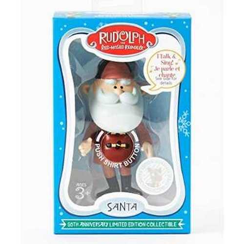 Rudolph the Red Nosed Reindeer, 50th Anniversary Limited Edition Collectible Talking Santa Limited Edition Collectible Plate