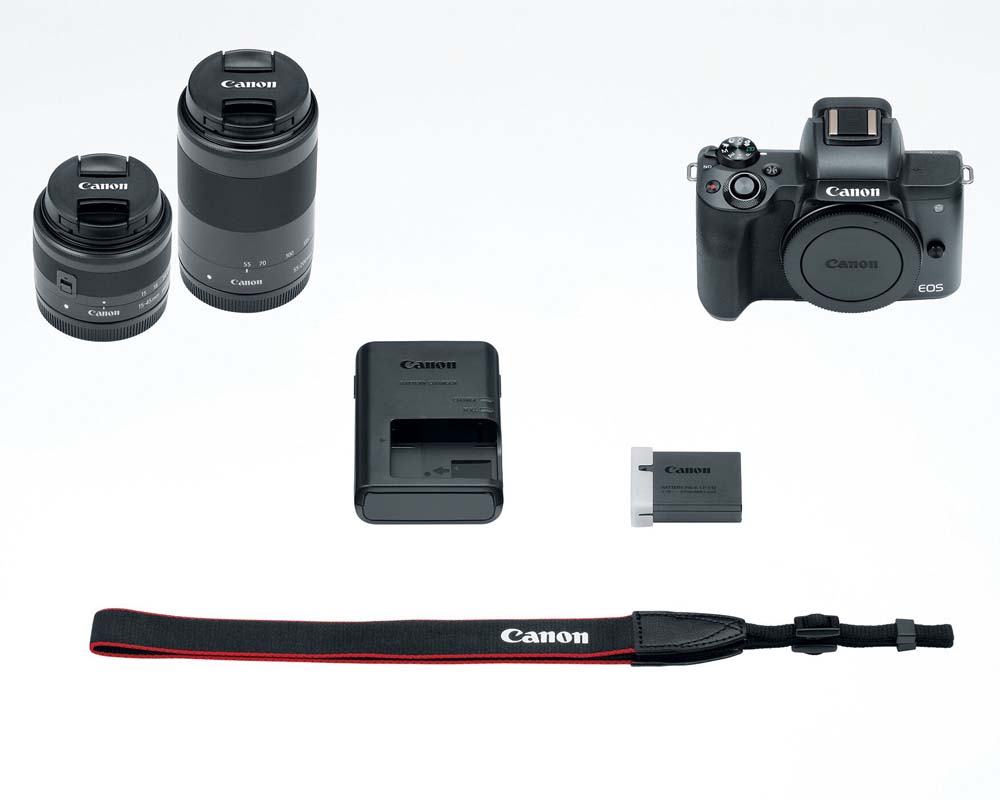 Canon EOS M50 Digital Camera Kit with 15-45mm and 55-200mm Lens Black by Canon