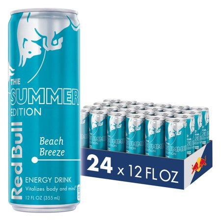 (24 Cans) Red Bull Energy Drink, Beach Breeze, 24 Pack of 12 Fl Oz, Summer - 24 Pack Of Monster