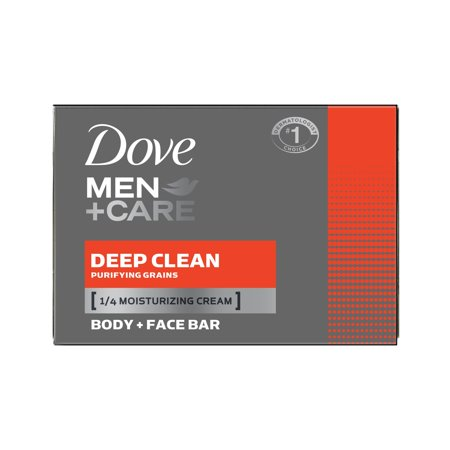 Dove Men+Care Deep Clean, Body and Face Bar Soap, 4 oz, 10 Bar