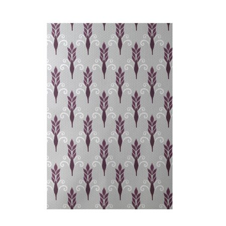 E by design friendship floral geometric print plum indoor for Geometric print area rugs