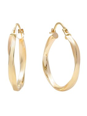 Pori Jewlers 10K Solid Gold Twisted Hoop Earrings BOXED