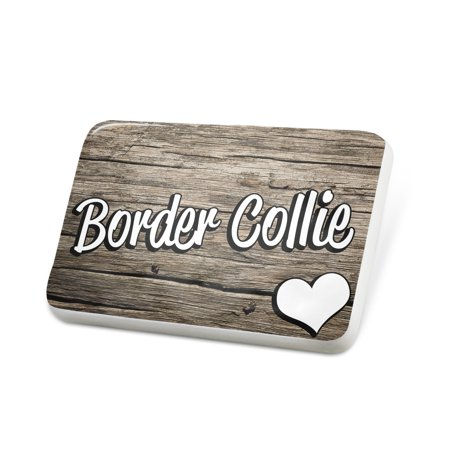 Scottish Border Collie - Porcelein Pin Border Collie, Dog Breed Scotland, England, Wales Lapel Badge – NEONBLOND