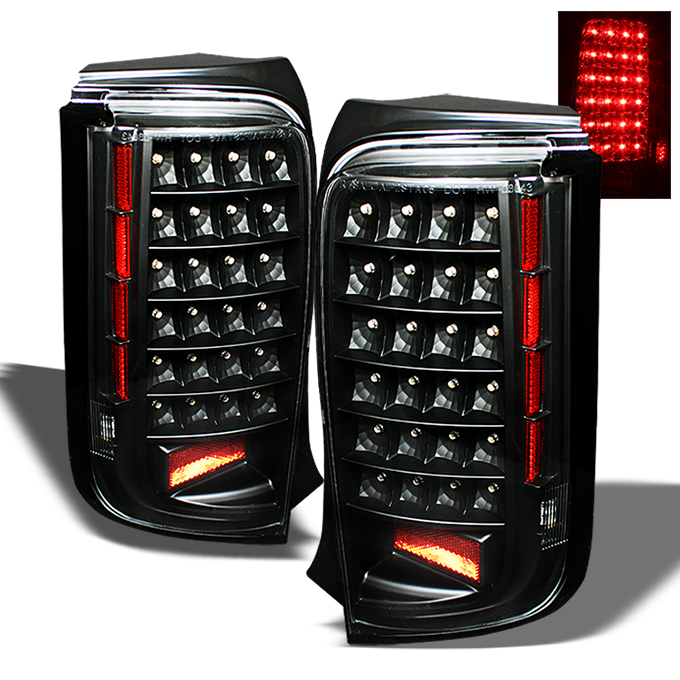 Fits 08-10 Scion Xb Bb Sport JDM Black Full LED Tail Lights Lamp Pair Left+Right